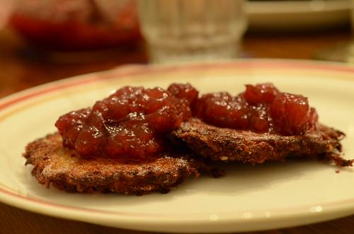 Latkes and Cranberry Sauce