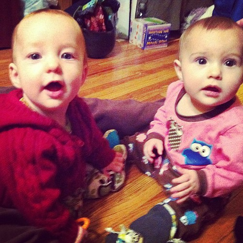 #hourlyphoto 8pm: Cousins. Two baby girls after seven boys. Surprise.