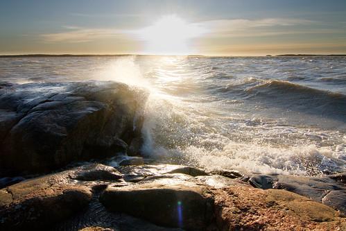 sea sun storm rock wave tokina1224mmf4