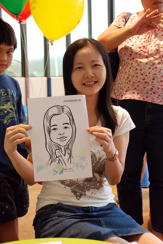 caricature live sketching for Foresque Residences Roadshow - Day 2 - 18