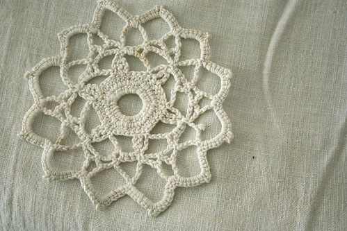 crocheted lace motif
