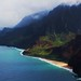 Na Pali coast helicopter shot