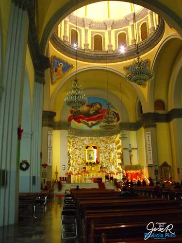 Interior Capilla Real o Capilla de los Naturales y sus 49 Cúpulas - Siglo XVI - San Pedro Cholula  -Puebla - México