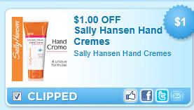 Sally Hansen Hand Cremes Coupon