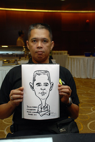 Caricature live sketching for SCORE – Yellow Ribbon Celebrating 2nd Chances 2011 - 2
