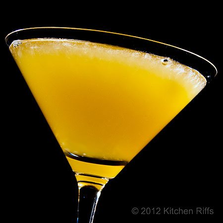 Sidecar Cocktail, black background