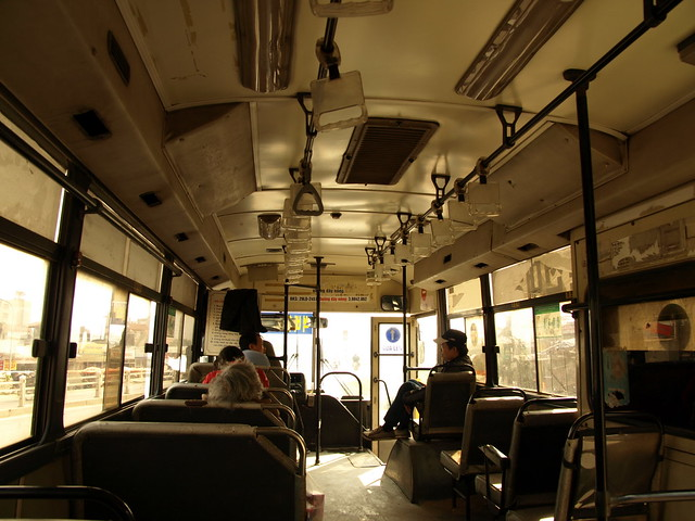 Interior of a bus in Hanoi