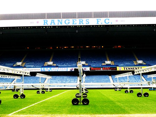 Pitch at Rangers F.C.