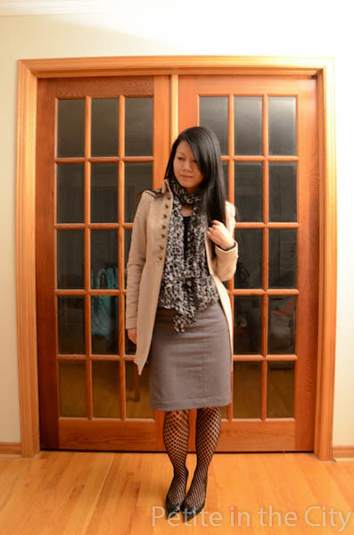 H&M pencil skirt, Zara Coat