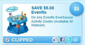 Evenflo Exersaucer Activity Center (available At Walmart) Coupon
