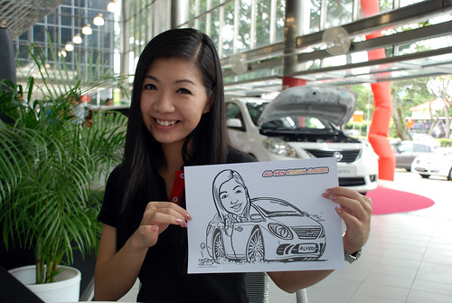 Caricature live sketching for Tan Chong Nissan Almera Soft Launch - Day 2 - 21