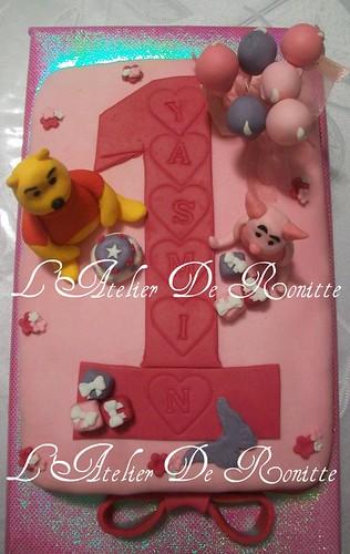 Winnie The Pooh 1 Yaş Doğumgünü Pastası by l'atelier de ronitte