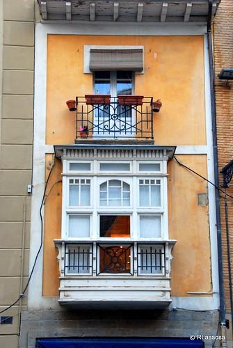 Mirador de un edificio situado en la calle San Nicolás cuya fachada da a la plaza de San Nicolás.