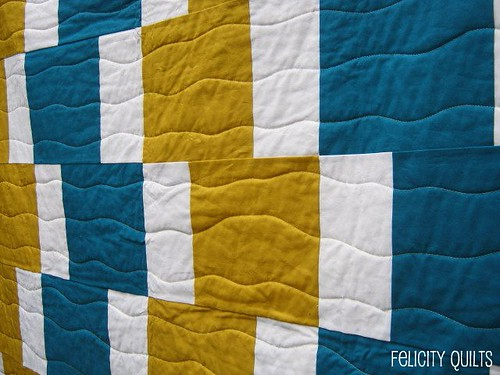 Easy Going Modern quilting closeup