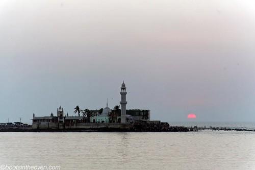 Hajj Ali Mosque at sunset
