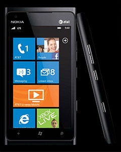The Nokia Lumia 900 has a large 4.3-inch AMOLED ClearBlack Display.