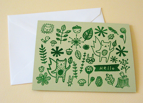 woodsy friends notecards