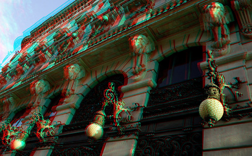 Madrid in 3D anaglyph