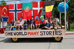 One World Many Stories 4th of July Float