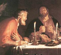Abraham Bloemaert (1622), Jesús con los de Emaús