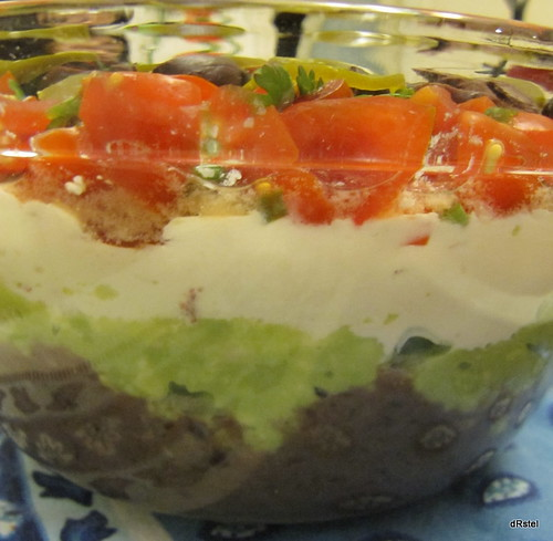 not-quite-7 layer dip
