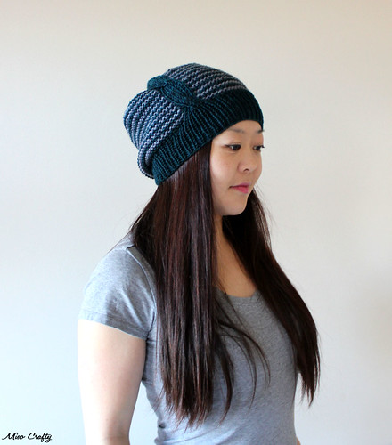 Here and There Hat - Cable Side 2