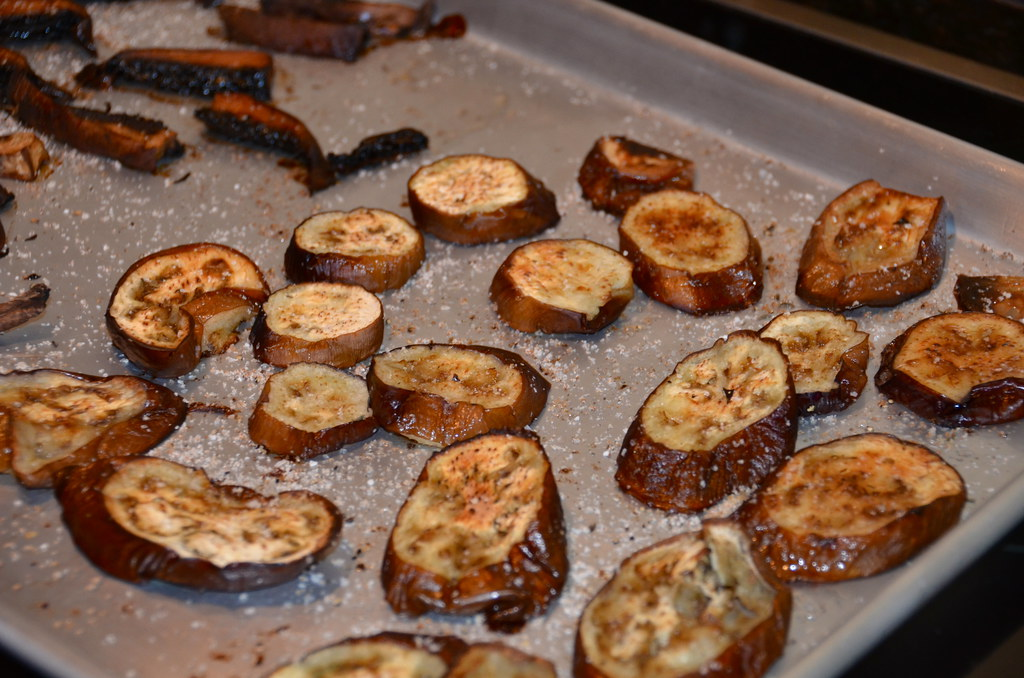 Roasted Eggplant & Portobello Risotto