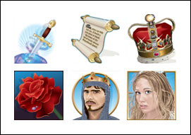 free Quest of Kings slot game symbols
