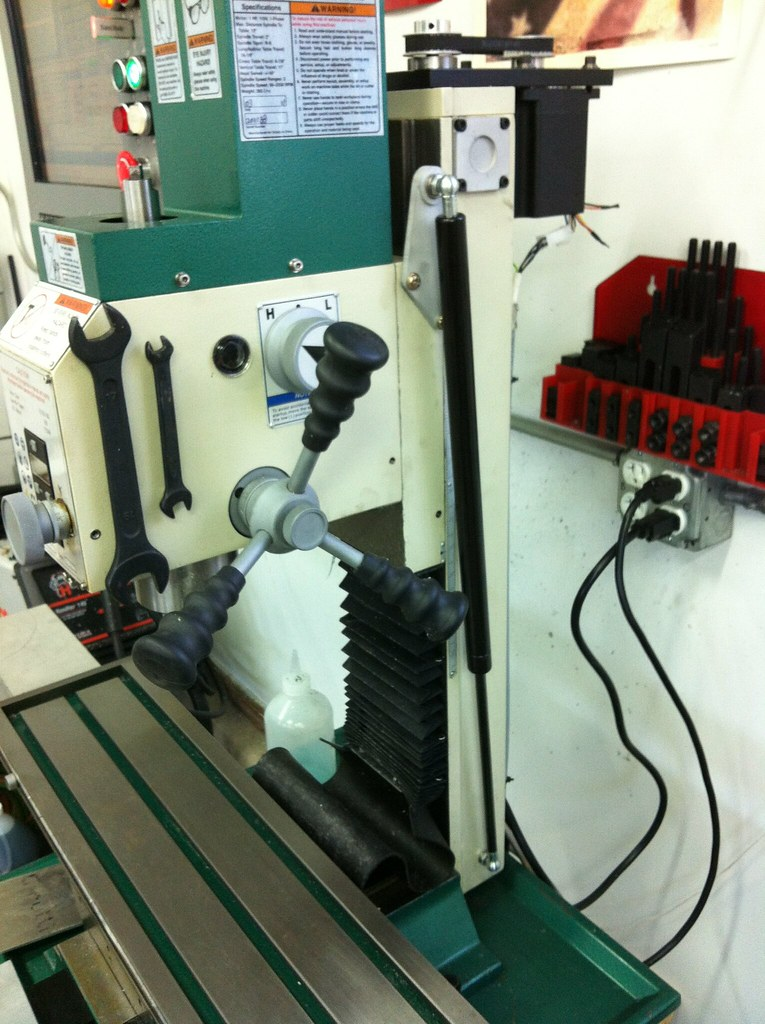 gas spring modification G0704 milling machine CNC