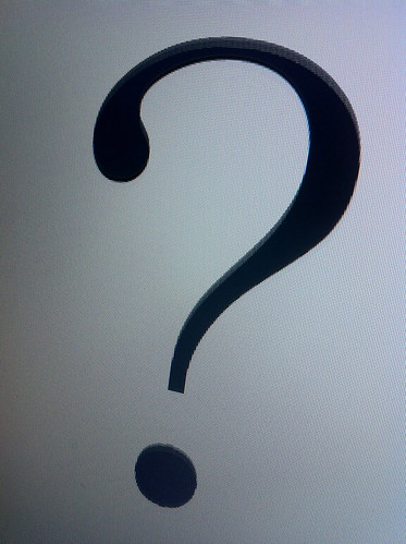Photo of a question mark.