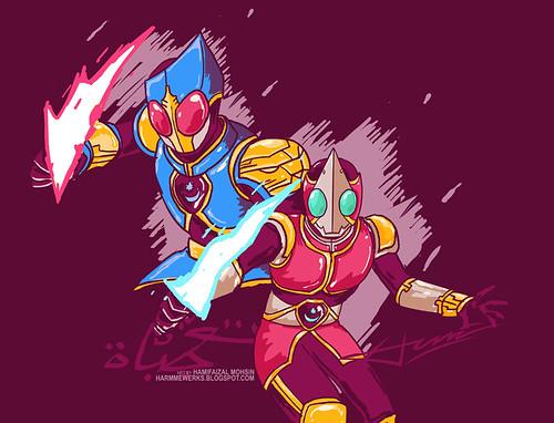 14012012 - Kamen Rider Tuah vs Jebat by hamifaizal mohsin