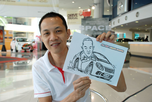 Caricature live sketching for Tan Chong Nissan Motor Almera Soft Launch - Day 3 - 4