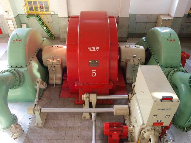 大觀電廠的水力發電機