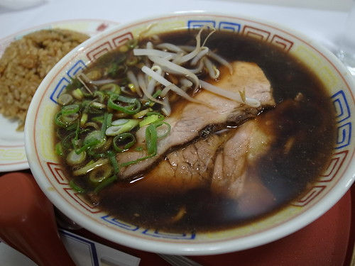 ra120116新福菜館 新宿伊勢丹催事 中華そば(小)ヤキメシ