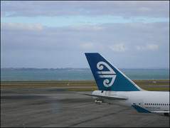 Air New Zealand plane at Auckland International Airport