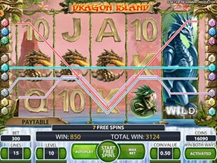 free online slots with bonus dragon island