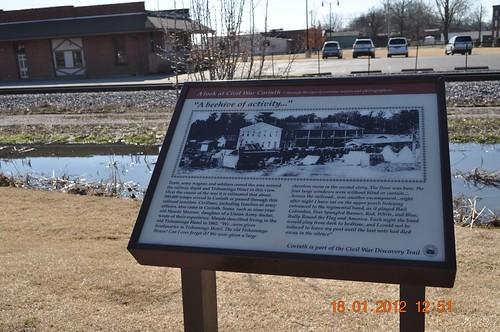war corinth trail civil civilwar ms comes markers