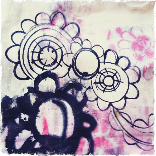 painting and doodling on fabric