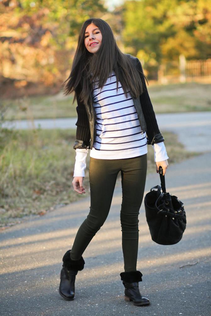Miranda Kerr Style, Alexander Wang Diego Bucket bag, Matt Bernson boots, Fashion Outfit