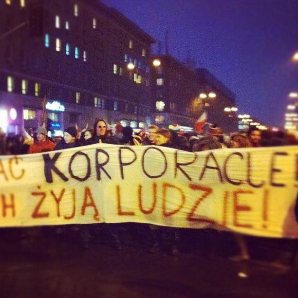 Anti-#ACTA protest in #Warsaw