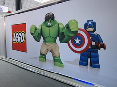 LEGO stand decoration at the London Toy Fair