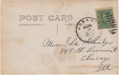 Dam, Lake George, PM 1908, verso