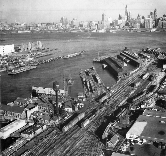 Lehigh valley railroad yards at the johnston avenue pier for A t the salon johnstone
