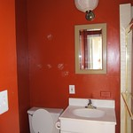 the small bathroom before
