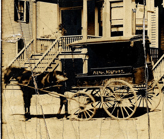 August Huth's Delivery Wagon, Westchester Square, The Bronx, New York City, About 1900