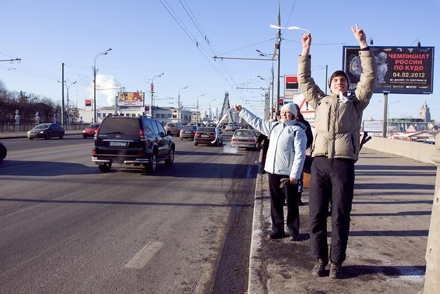 """Автопробег """"Белое кольцо"""" в Москве"""