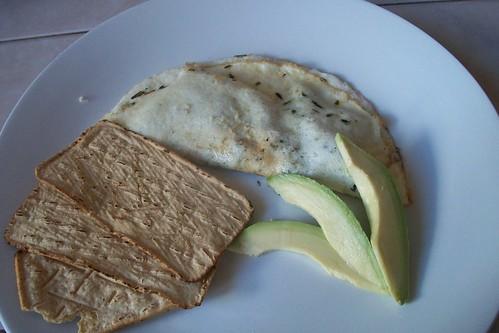 Omelette claro de cuitlacoche