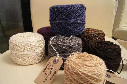 Selection of handspun yarns