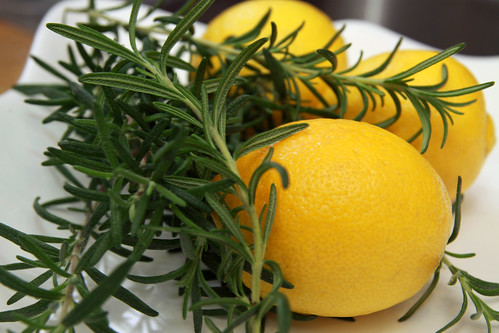 rosemary and lemons