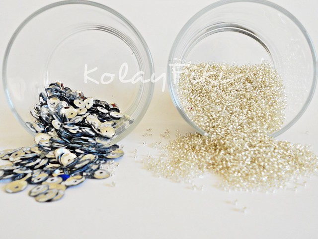 SEED BEADS and SEQUINS